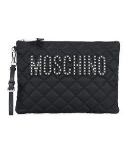 Moschino   Quilted Logo Clutch Womens Polyester