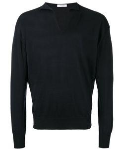 Boglioli   V-Neck Jumper Mens Size Large Silk/Cotton