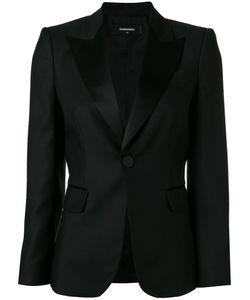 DSquared² | Peaked Lapel Blazer Womens Size 40 Virgin Wool/Polyester/Silk