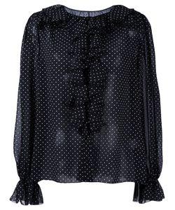 Dolce & Gabbana   Polka Dot Blouse Womens Size 42 Polyester/Silk