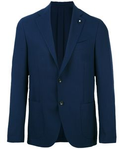 Lardini | Patch Pockets Blazer Mens Size 50 Mohair/Wool/Viscose/Cupro