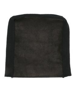 Julius | Leather Panel Beanie Hat Mens Cotton/Lamb Skin