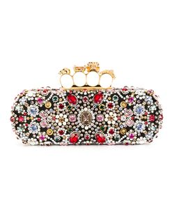 Alexander McQueen | Knuckle Long Box Clutch Womens Silk/Viscose/Glass/Metal Other