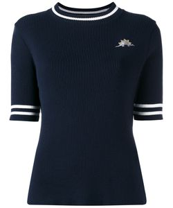 Muveil   Patch Figure Ribbed Sweatshirt Womens Size 40 Cotton