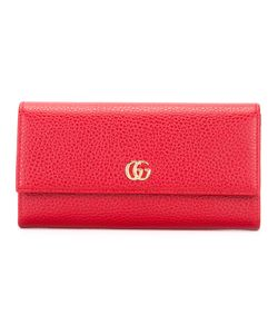 Gucci | Gg Logo Continental Wallet Womens Calf Leather