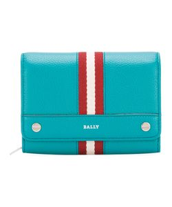 Bally | Stripe Detail Fold-Over Wallet Womens Leather