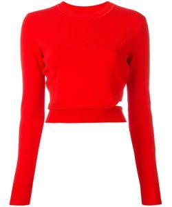 Mugler | Cropped Sweatshirt Womens Size Small Polyamide/Spandex/Elastane/Viscose