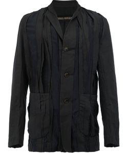 Uma Wang | Pleated Button Front Jacket Mens Size Medium Cotton/Cupro
