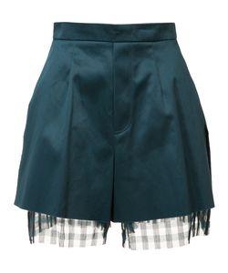 Yang Li | Frayed Edges Laye Shorts Womens Size 42 Cotton