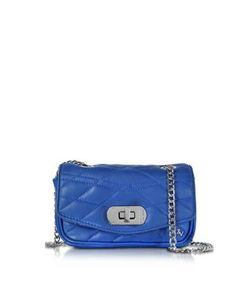 Zadig & Voltaire   Cobalt Quilted Leather Skinny Love Clutch
