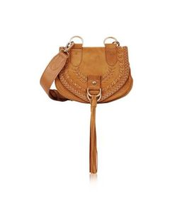 See by Chloé   Collins Passito Braided Leather Suede Crossbody Bag W/Tassels