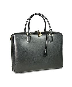 Fontanelli | Lizard-Print Calf Leather Briefcase