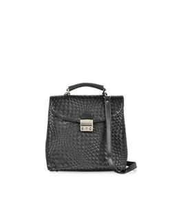 Forzieri | Woven Leather Vertical Messenger