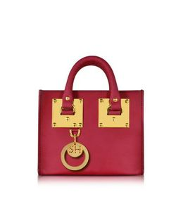 Sophie Hulme | Cherry Leather Albion Box Tote Bag