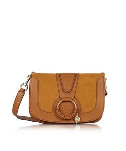 See by Chloé   Hana Passito Leather Suede Shoulder Bag