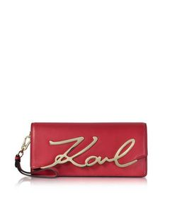 Karl Lagerfeld | Leather K/Signature Clutch