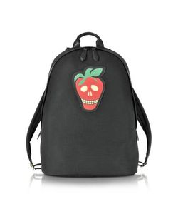 Paul Smith | Mens Canvas Backpack W/Strawberry Skull Leather Patch