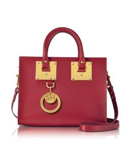 Sophie Hulme | Cherry Albion Saddle Leather Medium Tote Bag