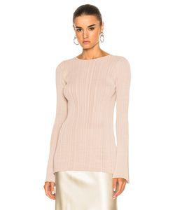 Calvin Klein Collection   Elodie Variegated Rib Long Sleeve Tee