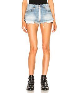 Unravel | Full Zip Denim Shorts