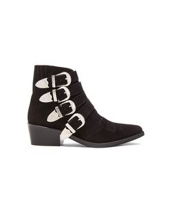 Toga Pulla | Suede Buckled Booties