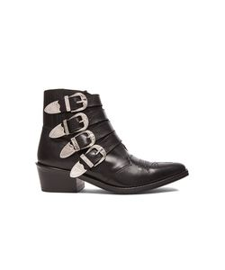 Toga Pulla | Leather Buckled Booties