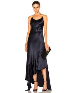 Juan Carlos Obando | Esmeralda Silk Crepe Back Satin Asymmetrical Dress