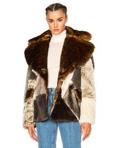 Alessandra Rich | Patchwork Faux Fur Jacket