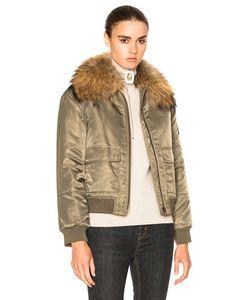 Army Yves Salomon | Nylon Bomber Marmotte Jacket