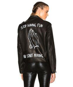 Enfants Riches Deprimes | Stop Having Fun Leather Jacket