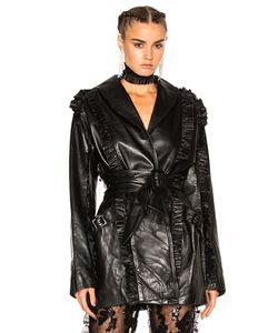 Rodarte | Ruffle Leather Wrap Jacket