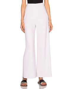 Sally Lapointe | Viscose Stretch Wide Leg Trousers
