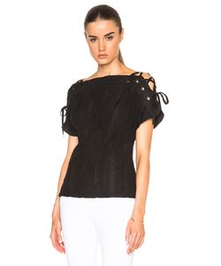 Thakoon | Lace Up Sleeve Top