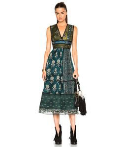 Burberry Prorsum | Geometric Floral Print Silk Crepon Dress