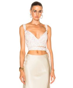 Calvin Klein Collection   Linnetra L Faded Leather Bouquet Bustier