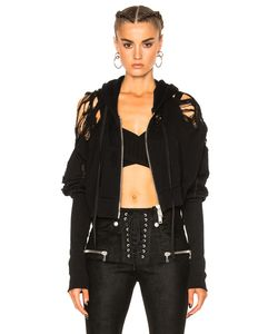 Unravel | French Terry Crop Zip Up Hoodie