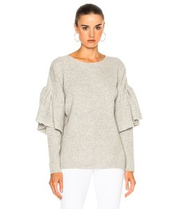 Ryan Roche | Ruffled Sleeve Drop Shoulder Sweater