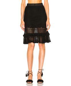 Jonathan Simkhai | Ruffle Crochet Laye Mini Skirt
