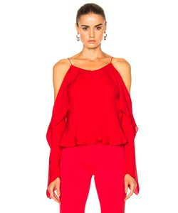 Rosetta Getty | Silk Double Georgette Off The Shoulder Camisole