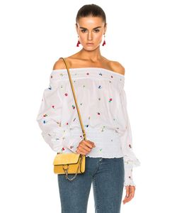 Suno   Smocked Embroide Blouse