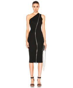 Givenchy | One Shoulder Zip Detail Maxi Dress