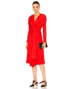 Victoria Beckham | Crepe Back Satin Drape Wrap Dress