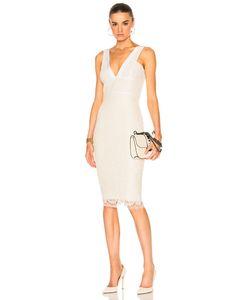 Victoria Beckham | Lace V Neck Fitted Dress