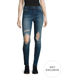 J Brand | Maria High-Rise Distressed Skinny Jean