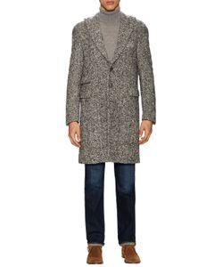 Michael Bastian | Wool Herringbone Peak Lapel Top Coat