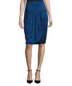 Valentino | Silk Front Pleat Pencil Skirt