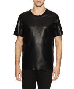 Blk Dnm | Leather Crewneck T-Shirt