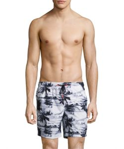 Sundek | Palm Trees 16 Elastic Shorts