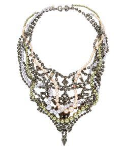 Tom Binns | Regal Rocker Crystal Pearl Collar Necklace