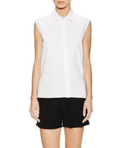 Ji Oh | Sleeveless Collared Top